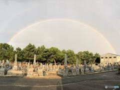 見事な二重虹