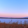 夕景の斜里岳