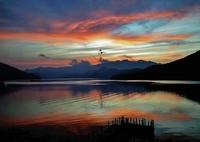 第七百三十一作  「おのれ見出せぬまま けふもゆう焼け」 栃木県中禅寺湖