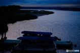 印旛沼の夕暮れ
