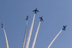 blueimpulse ブルーインパルス 航空自衛隊 桐生祭り 展示飛行