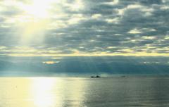 日本海の朝