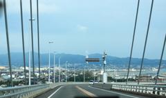 新湊大橋を下りて行きま~す^^