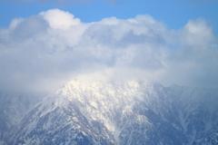 晴れてる間に撮る雪の立山