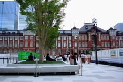 東京駅前・・休憩に最適な場所が有った~^^