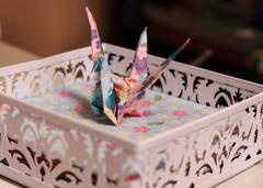 鶴を作っては・・みたが・・しっくりこない^^;