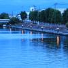 運河の夕景色