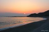 いつもの海岸のいつもの夕陽