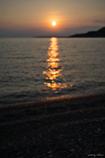 近眼の夕陽