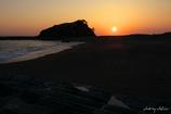 ベアーズロックと夕陽