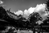 筑波山神社(モノクロ)