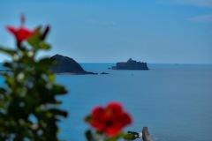 故郷から見た軍艦島