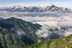 鎮座する立山連峰