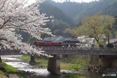 津和野大橋を渡るDL