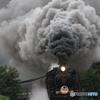 蒸気機関車(広がる煙)