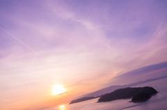 連なる友ヶ島と淡路島