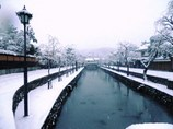 倉敷美観地区の雪景色