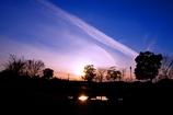 柿田公園の夕暮れ