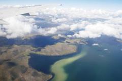 チチカカ湖を望む