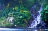 吐竜の滝にて