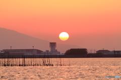 四月の夕陽