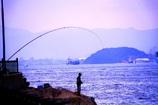 釣り人  釣れたぁ~