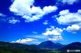 由布岳が見える丘