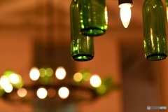 ワインボトルの灯