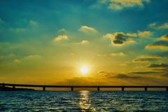 沈みゆく陽