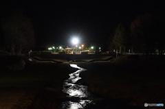 深夜の小川