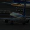 夕暮れの駐機場