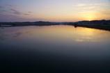 印旛沼の夕景