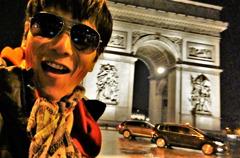 Rocklyan at Arc de Triomphe , Paris