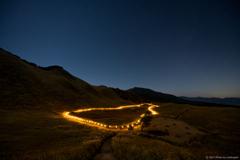高原の山灯り