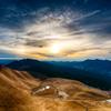枯れススキの高原