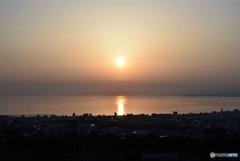 Sun rise in 別府湾♪