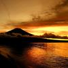 山中湖の夕日