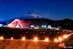 第二回富士山白糸平成棚田竹灯籠祭り