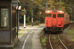 下り列車入線