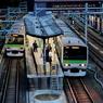 夕暮れの原宿駅