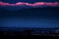山と暮らす ~善光寺平の夜明け~