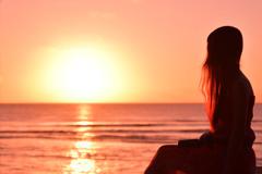 グアムの夕陽2