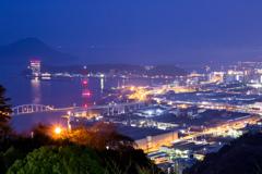 夜明け前の広島湾