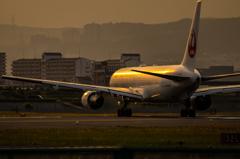 夕刻の出発便