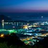 日没後の広島湾
