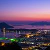 日没直後の広島湾