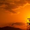 岩国基地の夕日