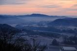 朝靄に包まれた山里 その2