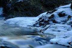 凍結する滝