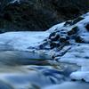 凍結した滝
